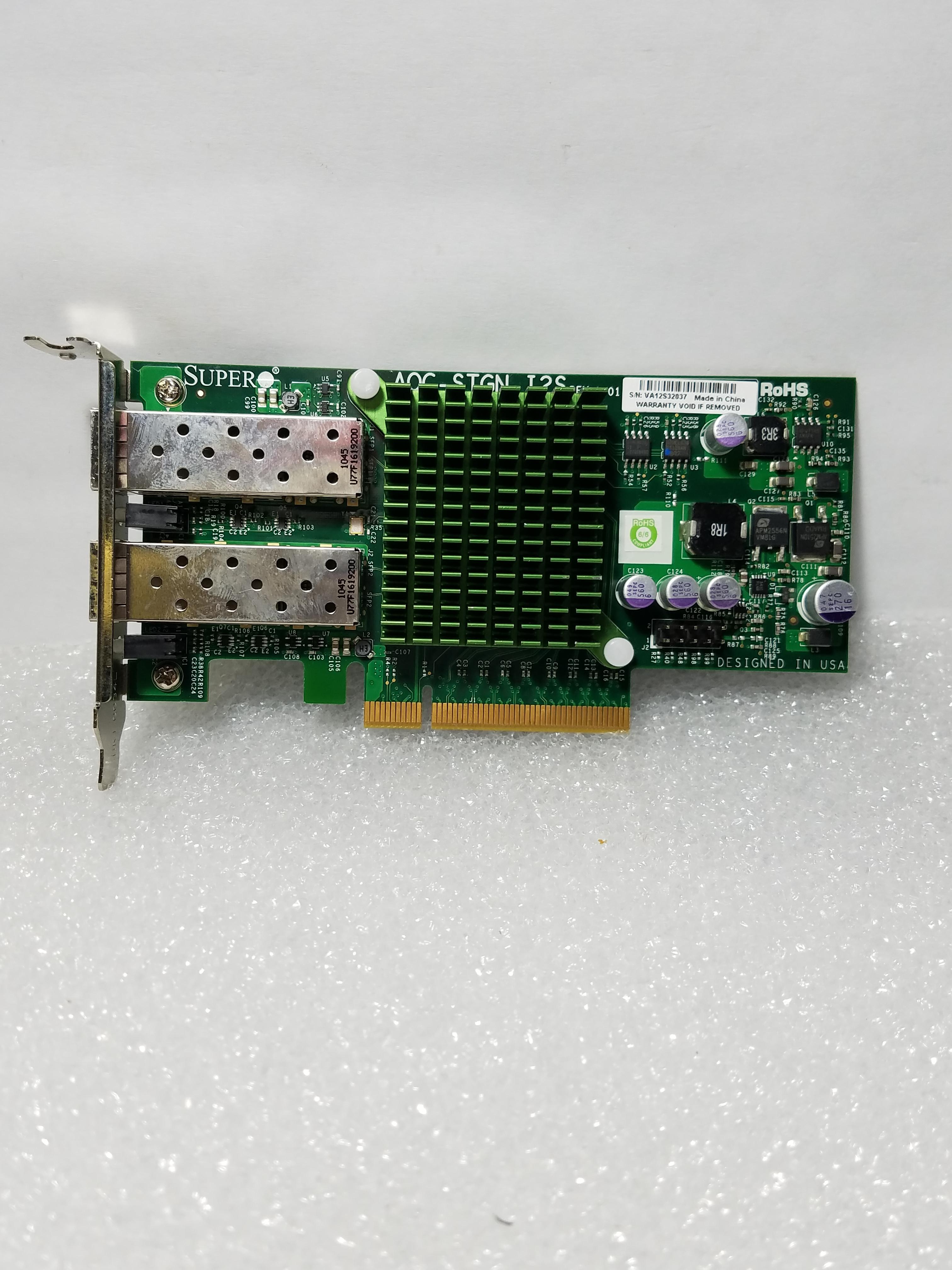 SuperMicro AOC-STGN-I2S Rev: 1 2Port 10GB Ethernet Controller LP Bracket NO  SFPs