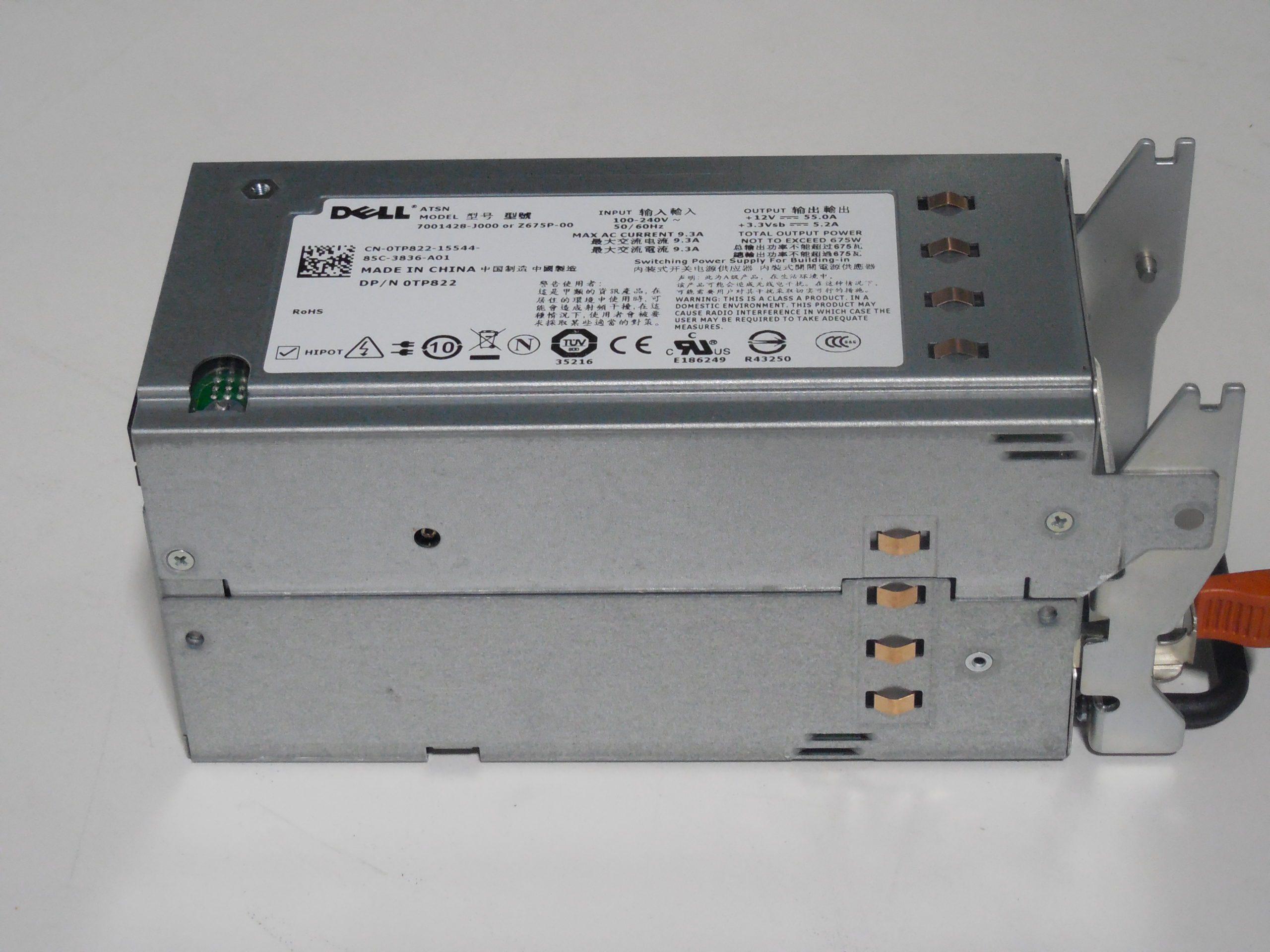 DELL TP822 – 675 WATT REDUNDANT POWER SUPPLY FOR POWEREDGE ...  DELL TP822 – ...