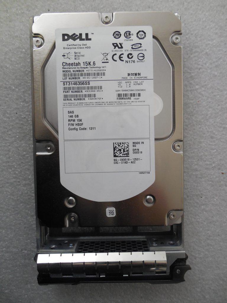 Dell XX518 Seagate Cheetah 146GB 15K 6 SAS 3 5