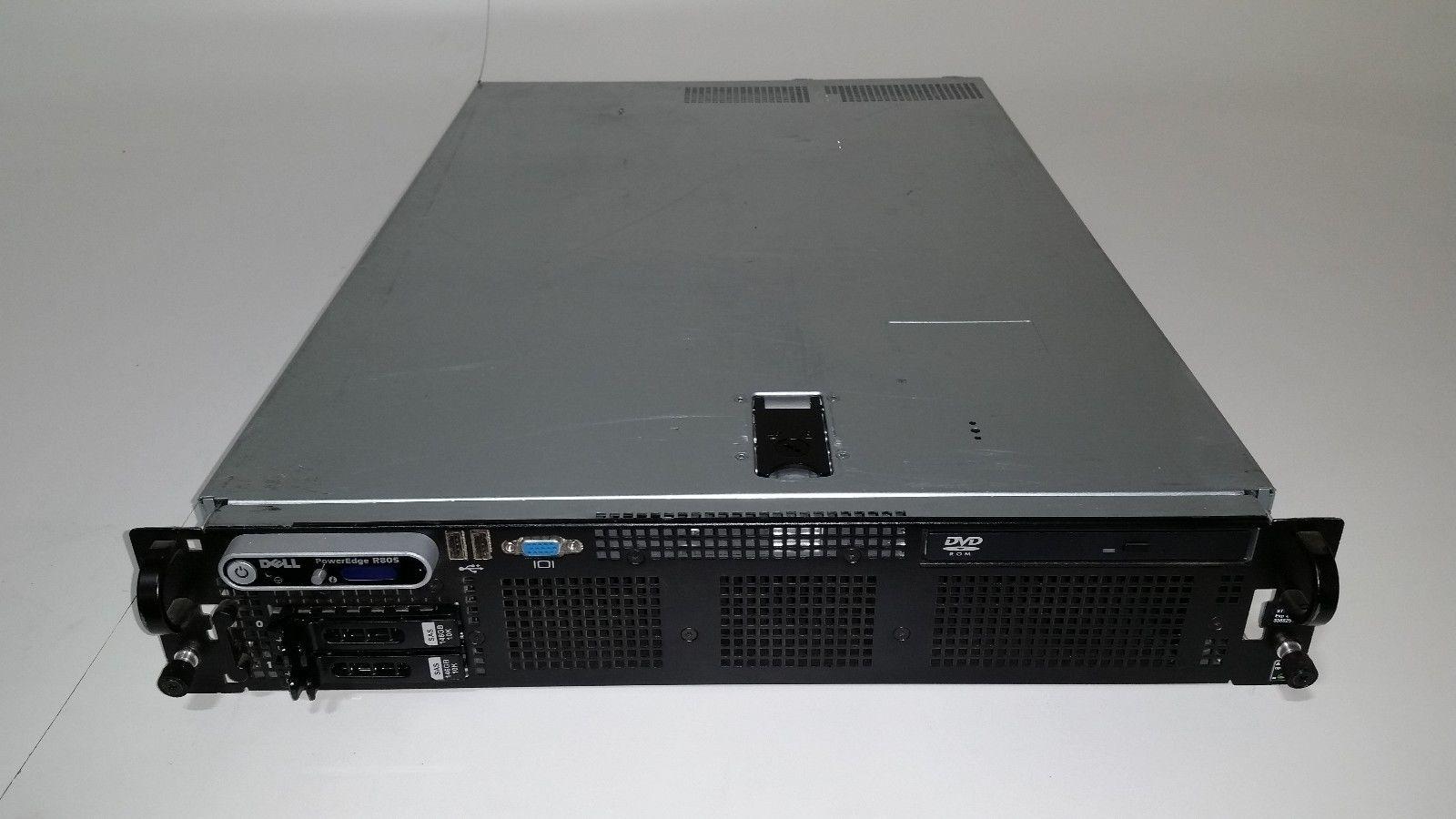 Dell Poweredge R805 2x Amd Opteron 23ghz Quad Core 16gb Ram Server 146gb 10k Garland Computers