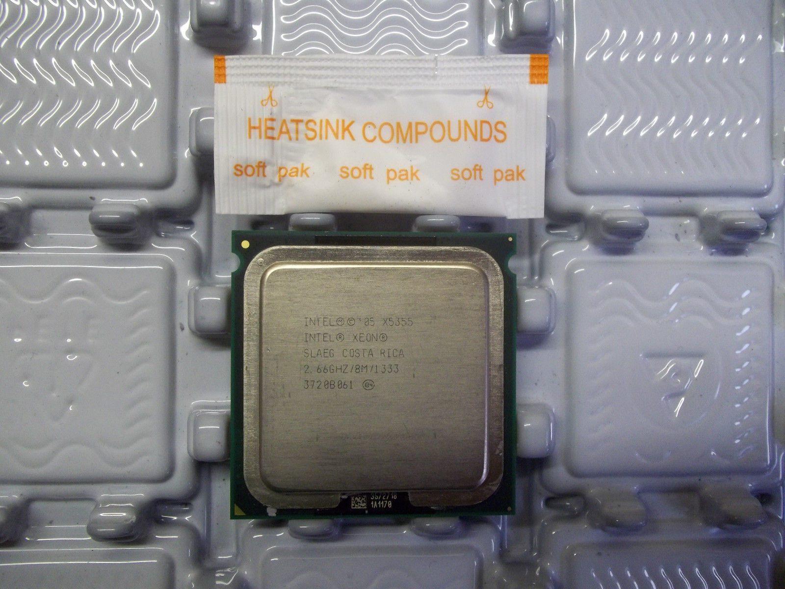 Matched Pair/_ Intel Xeon X5355 2.66GHz 8m 1333fsb Quad-Core LGA771 SLAEG