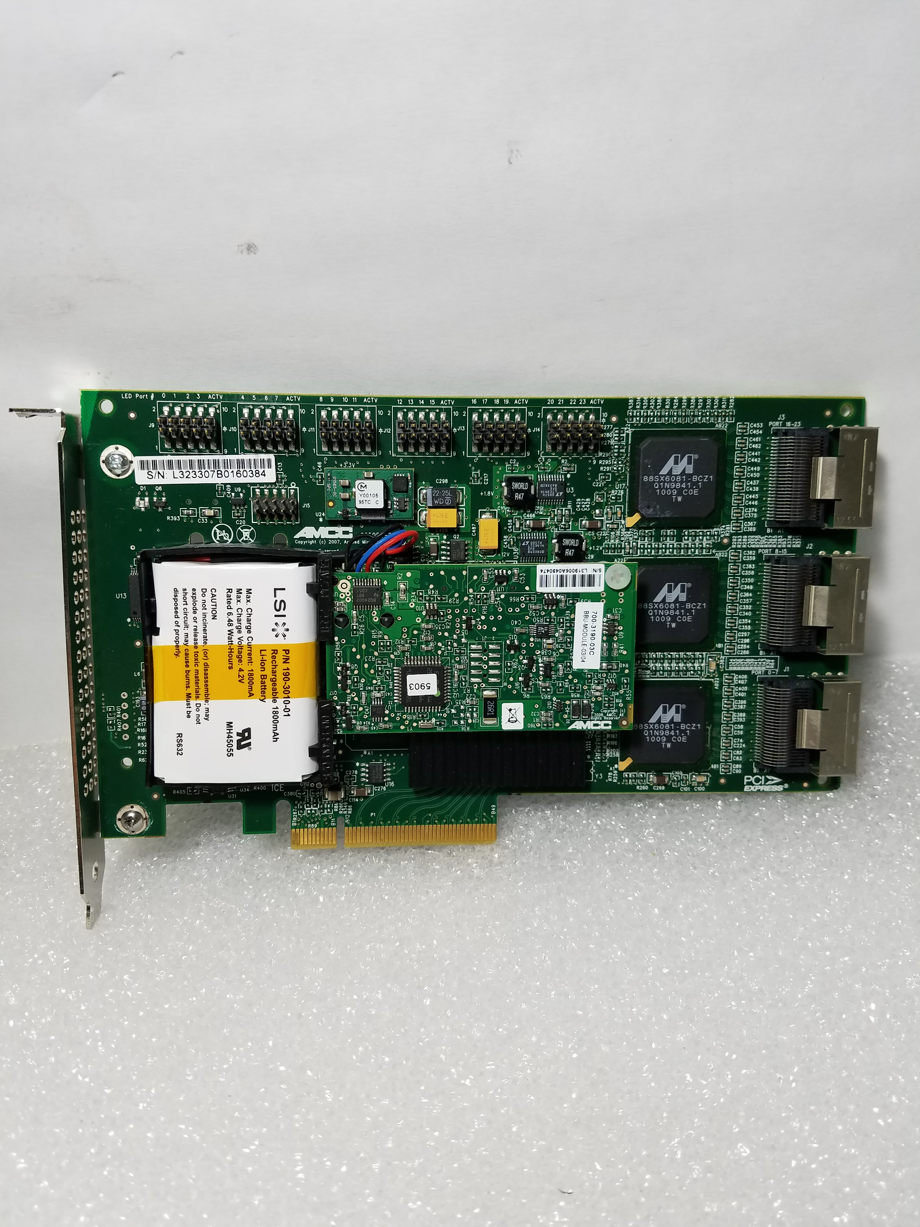 LSI 3Ware 9650SE-24M8 24 Ports SATA-II 3Gbs PCIe RAID Controller w