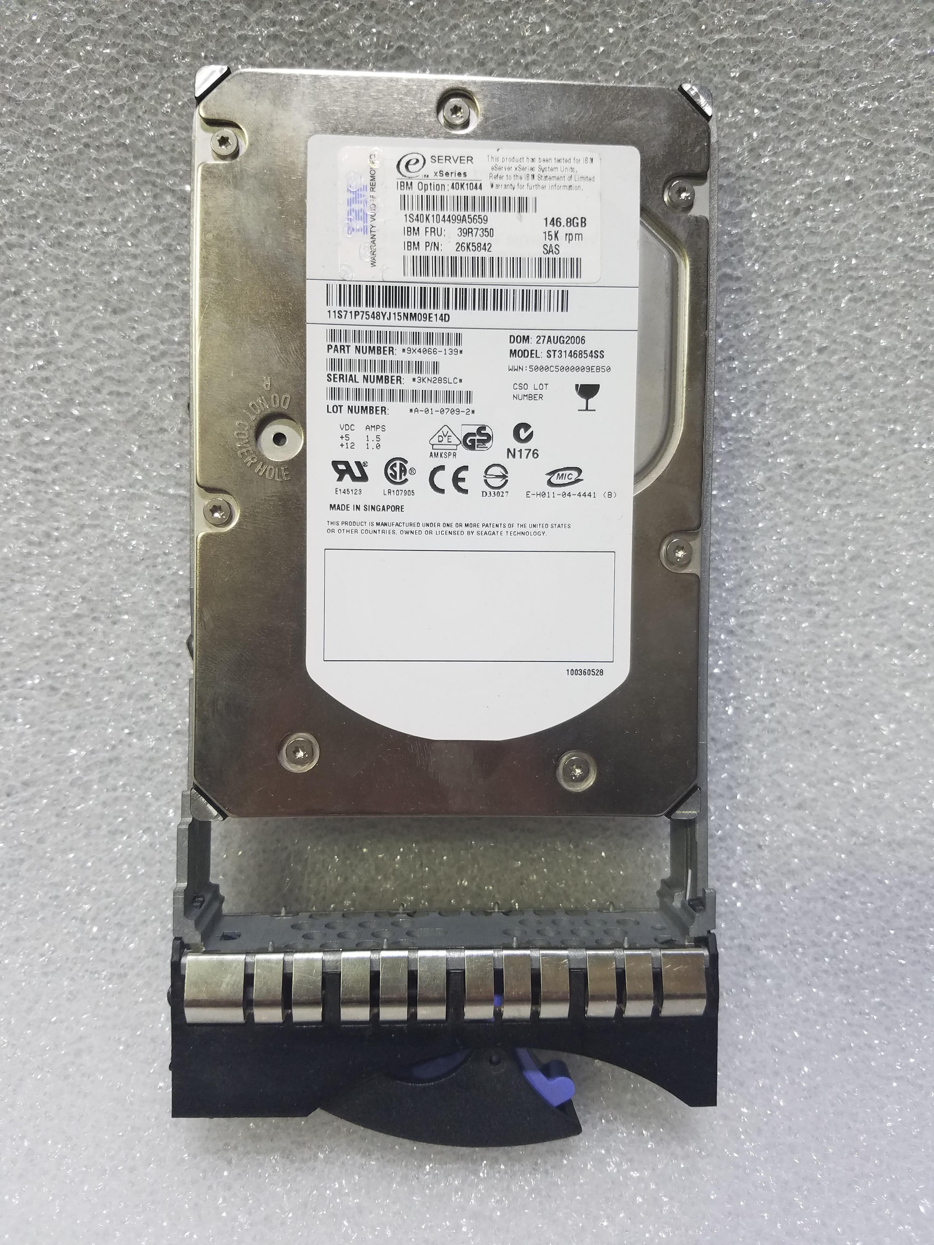 NEC HDD 146G SAS ST3146356SS 0004 8053480000