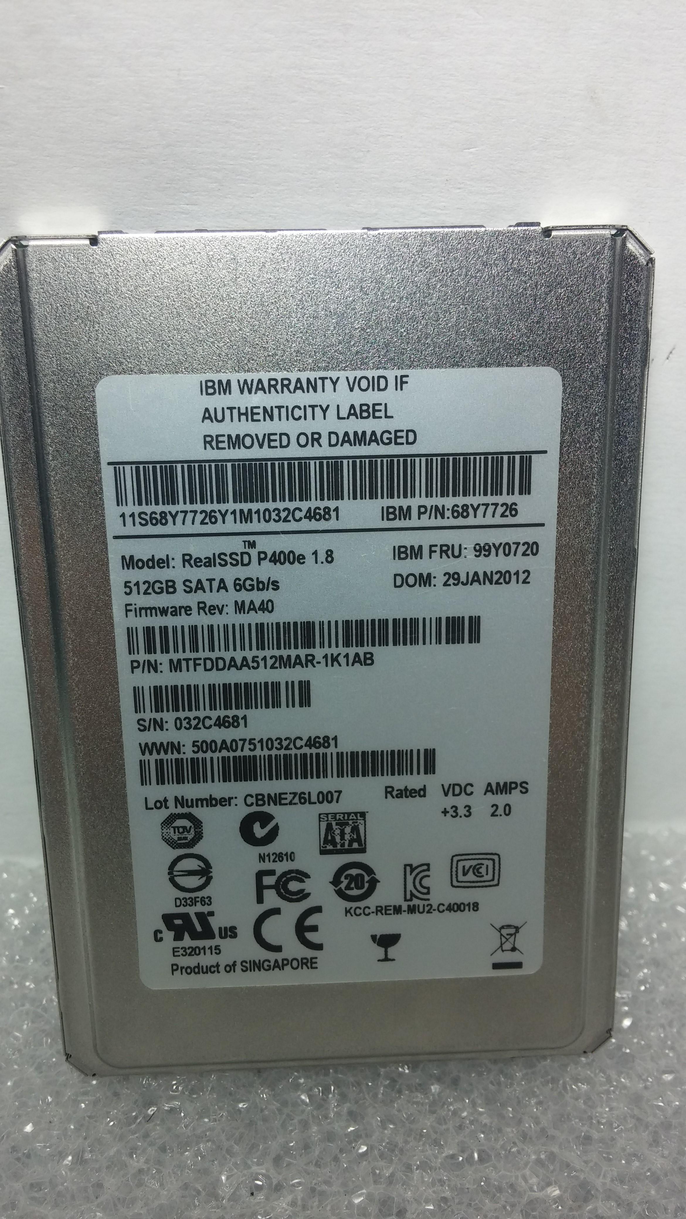 """SSD - MFT -1.8"""""""