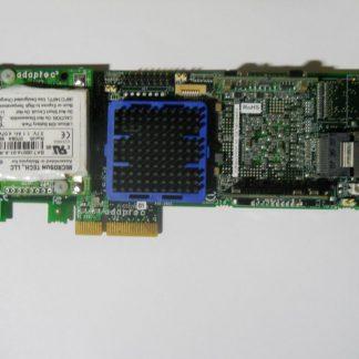 ADAPTEC ASR-5405 4-PORT JBOD Raid Card NO Bracket W/BBU & Cable