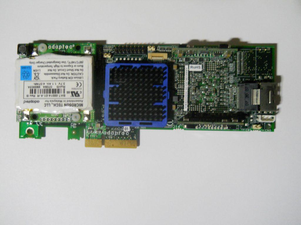 Raid Controllers Garland Computers Short Circuit No Disassemble Adaptec Asr 3405 128mb Pci E Controller W Bbu Bracket