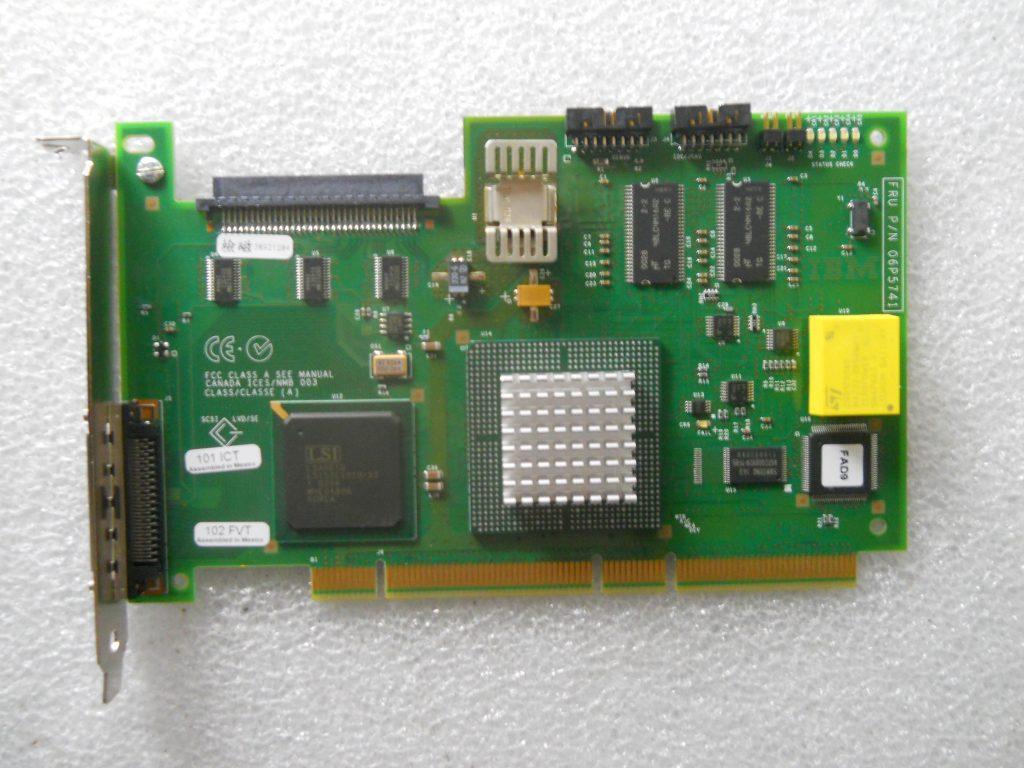IBM ServeRAID 6i Storage Controller Low Profile RAID Ultra320 SCSI 320Mbps PCI-X 71P8595 fru:71P8627