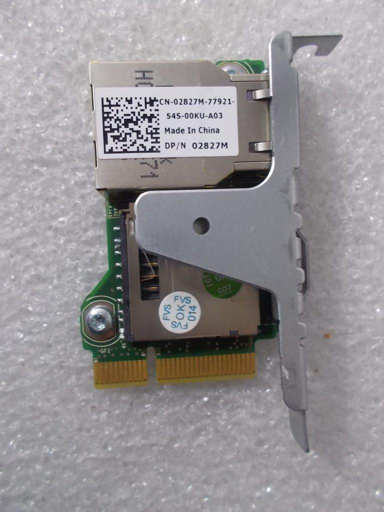 Dell 2827M 0WD6D2 Remote Access Card iDRAC7 Express R320 R420 R520 T320 T420