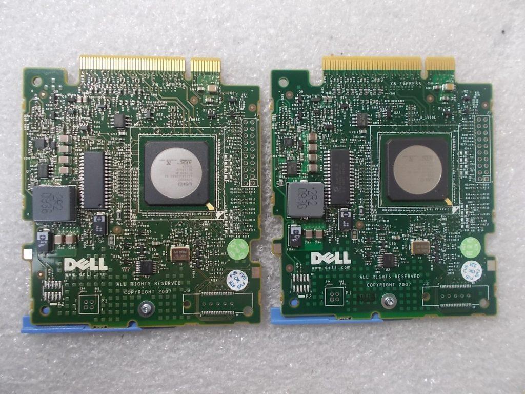 Lot of 2 Dell HM030 PERC 6//iR SAS Modular Poweredge RAID Controller
