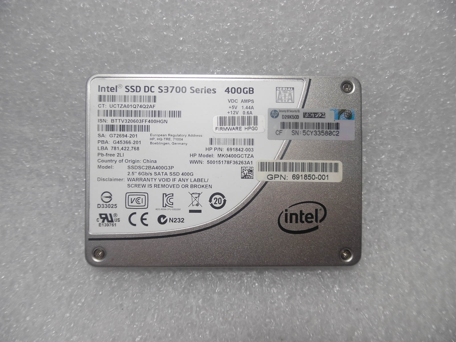 SATA Internal Hard Drive HP 490579-001 74GB 10K