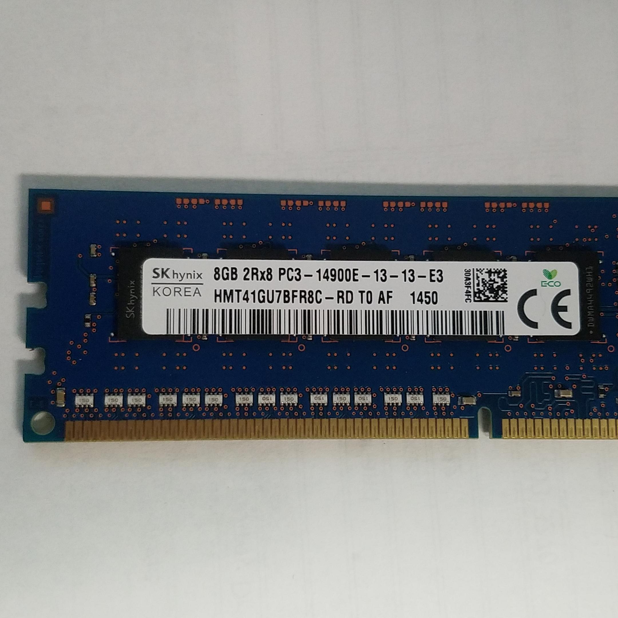 8GB Hynix HP 712288-581 PC3-14900E DDR3 2Rx8 Unbuffered ECC Server Memory RAM