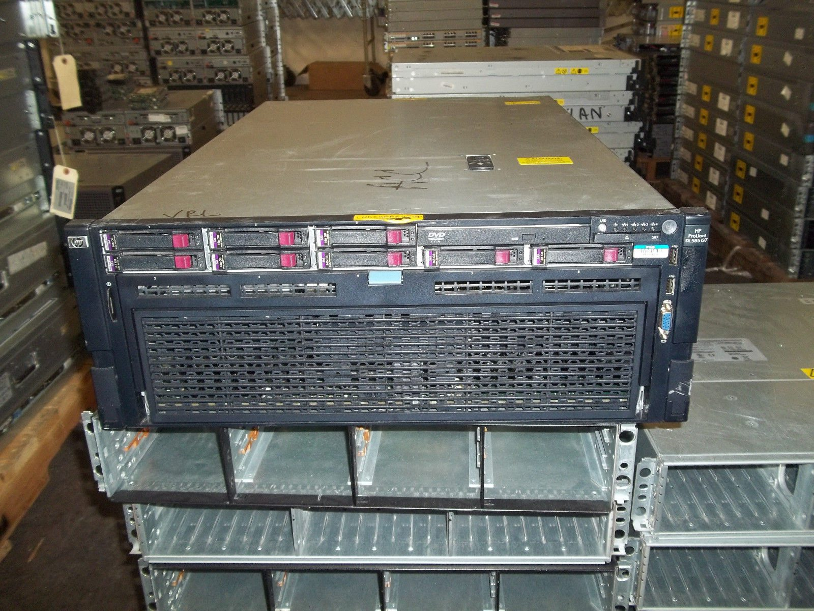 Hp Dl585 G7 2x Opteron 6172 2 1ghz 12 Core 64gb 8x 146gb