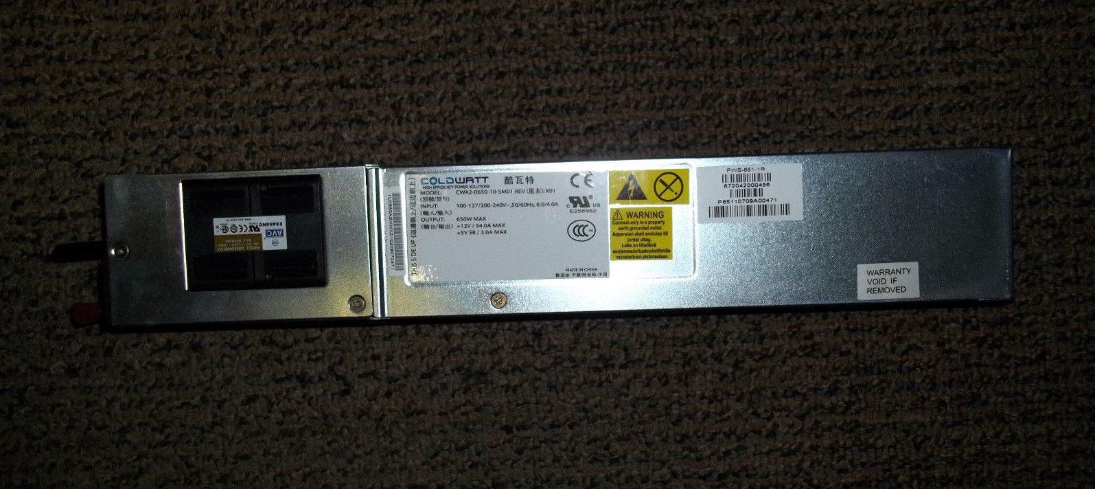 Supermicro PWS-651-1R Coldwatt CWA2-0650-10-SM01 650W Power Supply